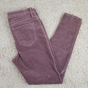 OLD NAVY Rockstar velvet skinny jeans mauve 8